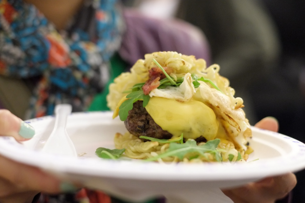 The infamous ramen burger. Hawkers Market remix edition.
