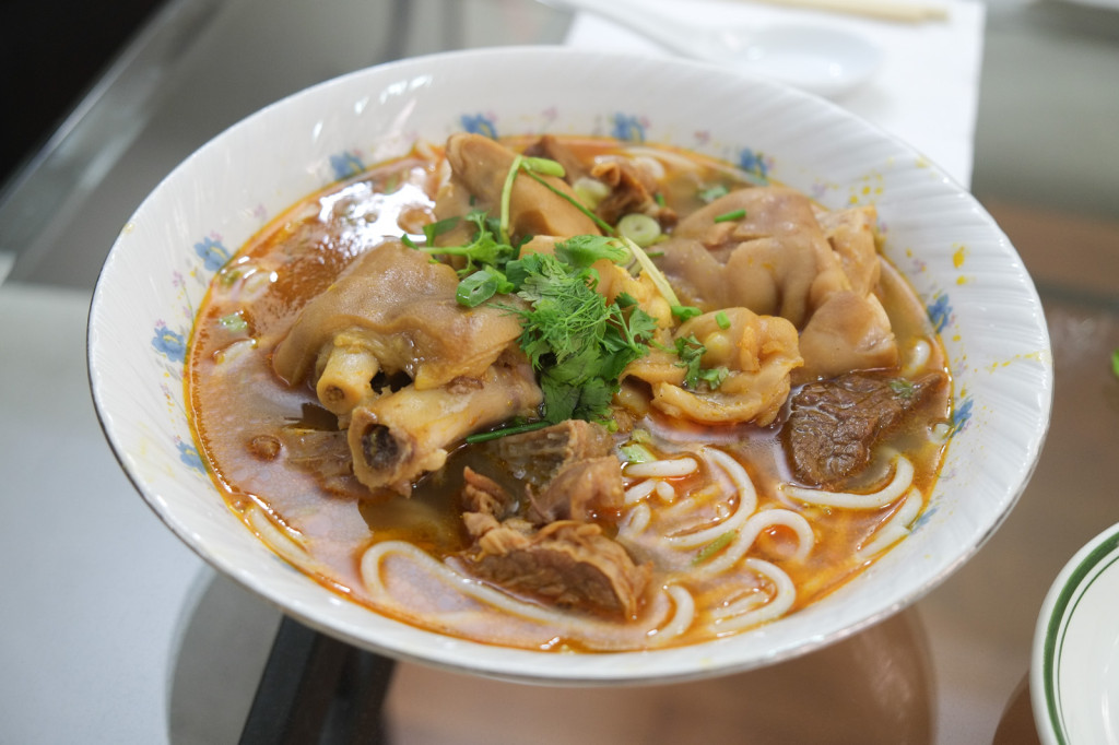 Mother-in-law's bun bo hue (spicy pig's foot noodle soup). Not for sale.