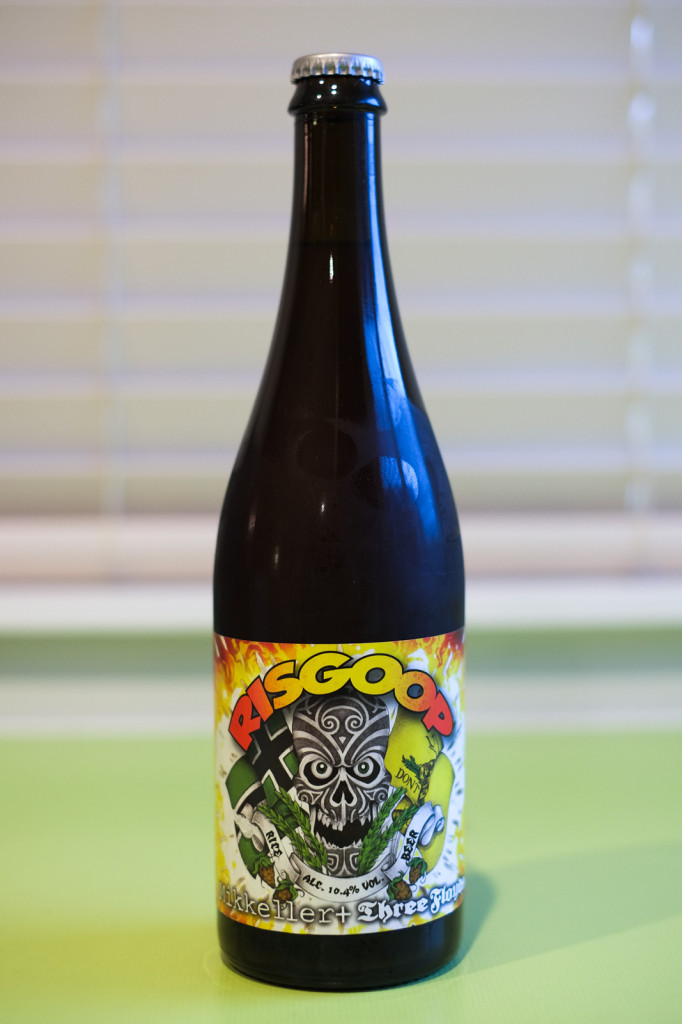 Mikkeller / Three Floyds Risgoop. Yes, those are my fingerprints.