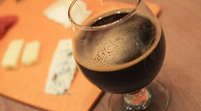 Brassneck Inertia Imperial Stout + Cheese (BC Beer Bloggers Local Winter Favourites)