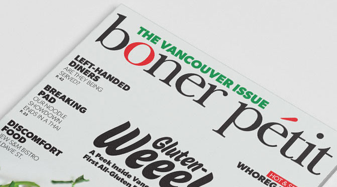 Vancouver's Newest Food Magazine