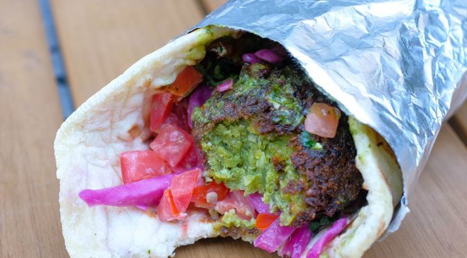 Lunch Quickie: Fresh 'n Fantastic Falafel & Pita at Superbaba Food Truck